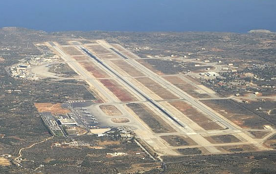 Chania airport Panorama